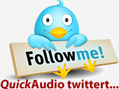 Follow QuickAudio on Twitter
