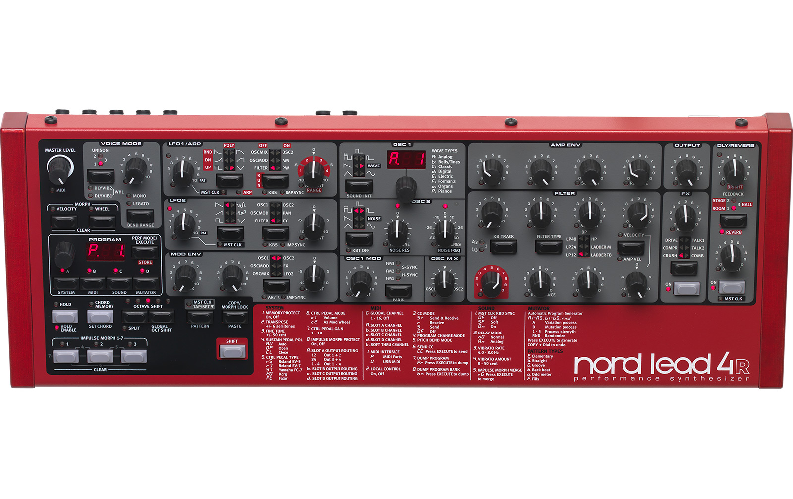 Clavia Nord Lead 4R - Rackversion