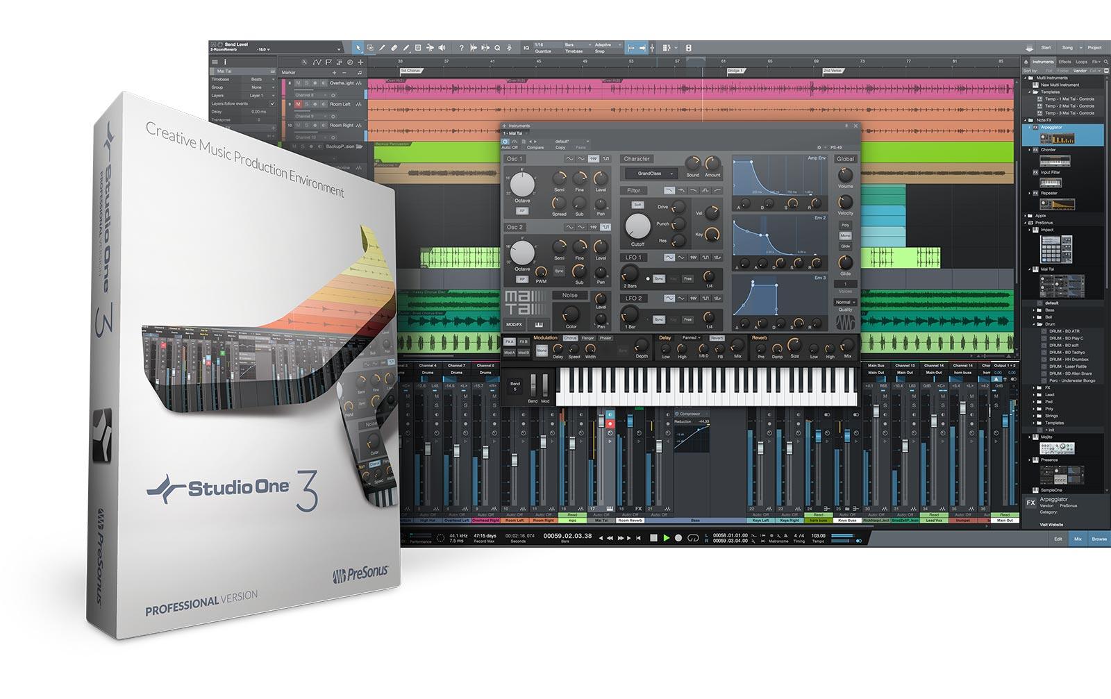 Presonus Studio One 3 Professional (Box mit Key Code Card)