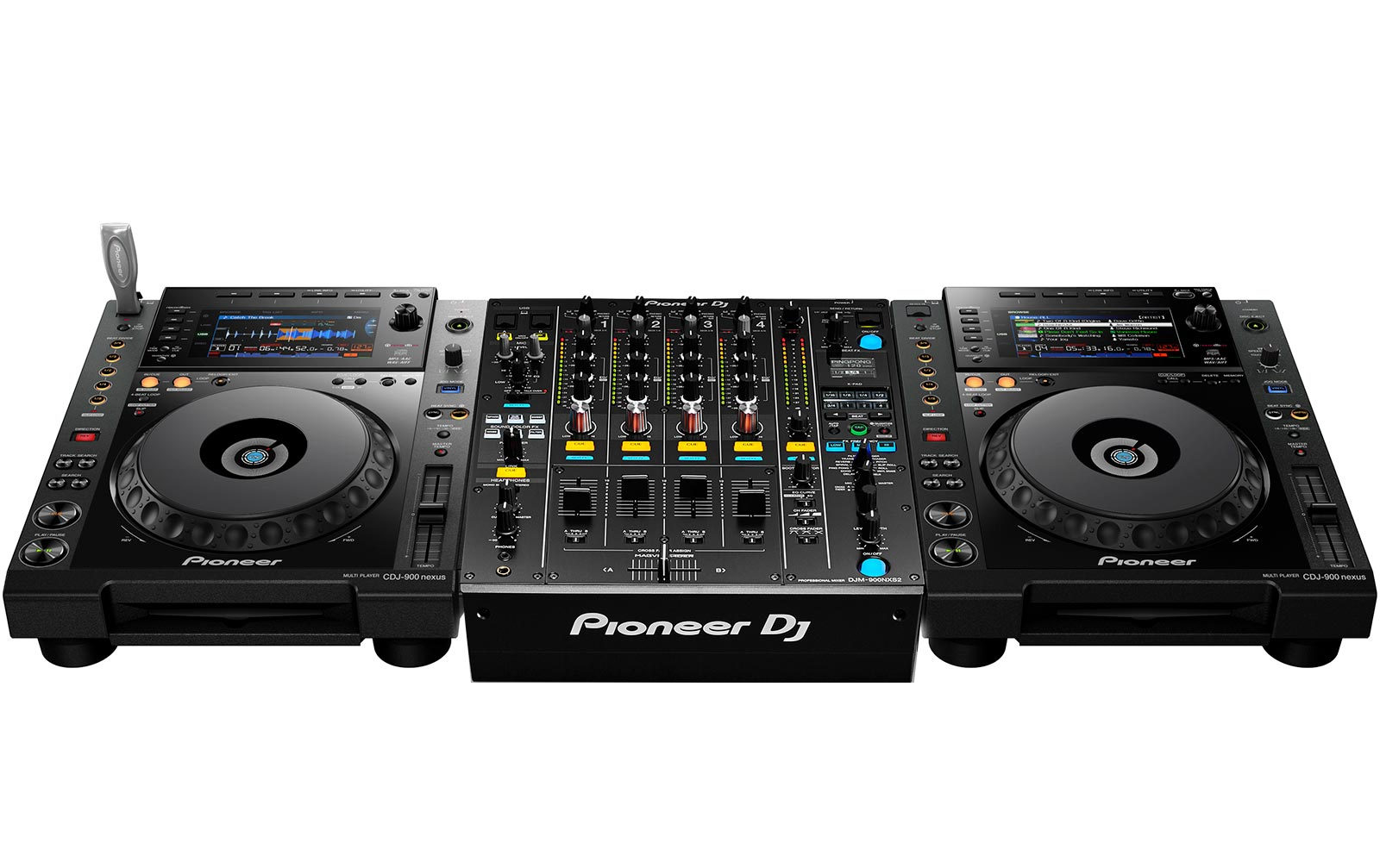Pioneer CDJ 900 NXS Doppelpack & DJM-900 NXS2 Bundle