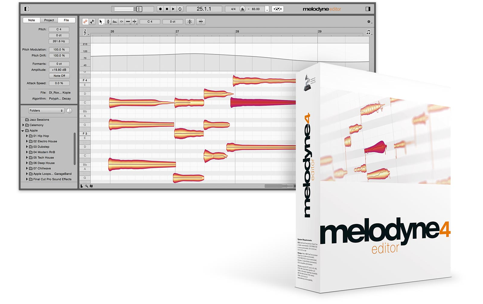 celemony-melodyne-4-editor-upgrade-von-melodyne-essential, 289.00 EUR @ music-and-more-store