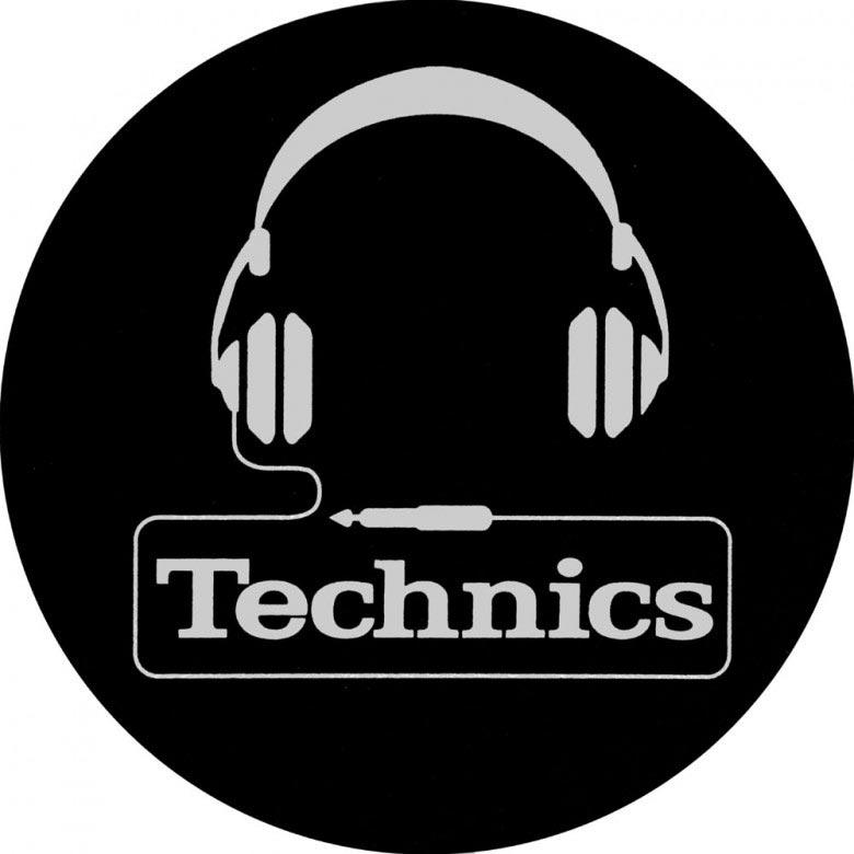 Magma LP-Slipmat Technics `Headphone`, black/silver (60642)