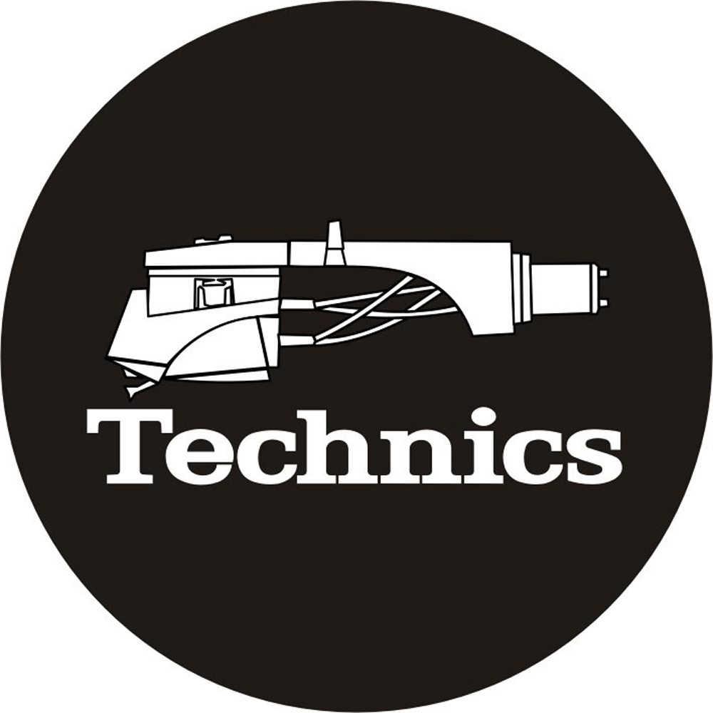 Magma LP-Slipmat Technics `Headshell 1`, black/white (60644)