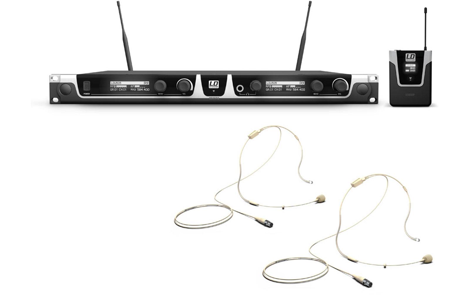 ld-systems-u505-bphh-2-funkmikrofon-system-mit-2-x-bodypack-und-2-x-headset-beigefarben
