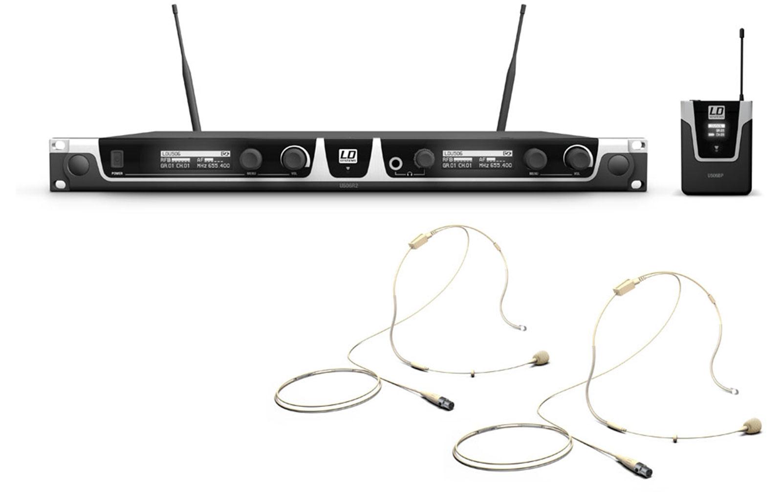 ld-systems-u506-bphh-2-funkmikrofon-system-mit-2-x-bodypack-und-2-x-headset-beigefarben