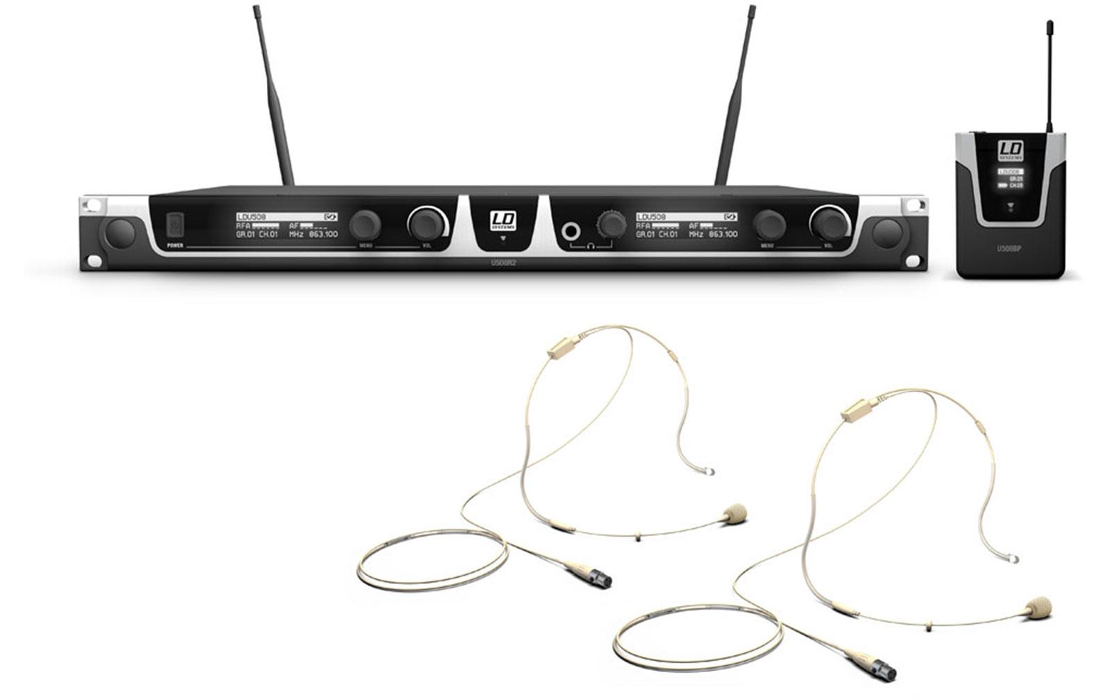 ld-systems-u508-bphh-2-funkmikrofon-system-mit-2-x-bodypack-und-2-x-headset-beigefarben