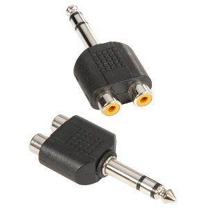 adam-hall-7549-y-adapter-2-x-mono-cinch-female-auf-6-3-mm-stereo-klinke-male