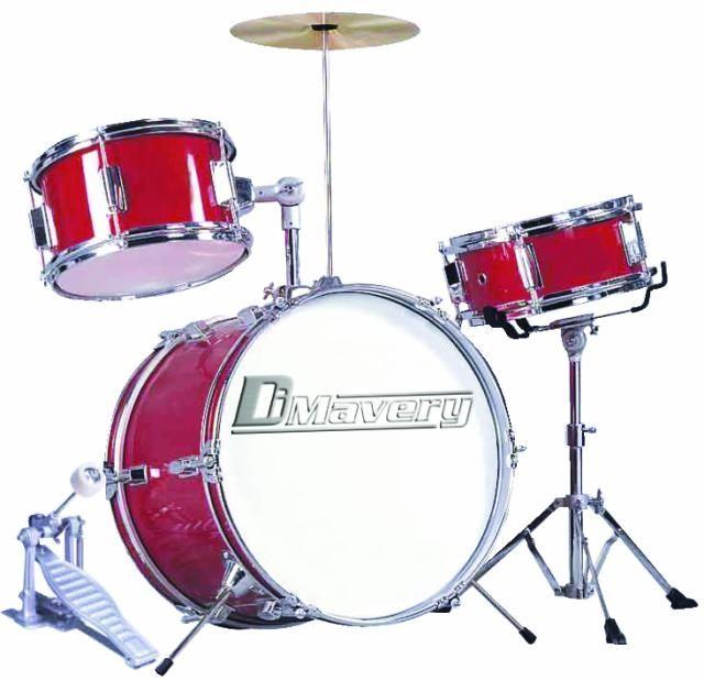 dimavery-jds-203-kinder-schlagzeug-rot