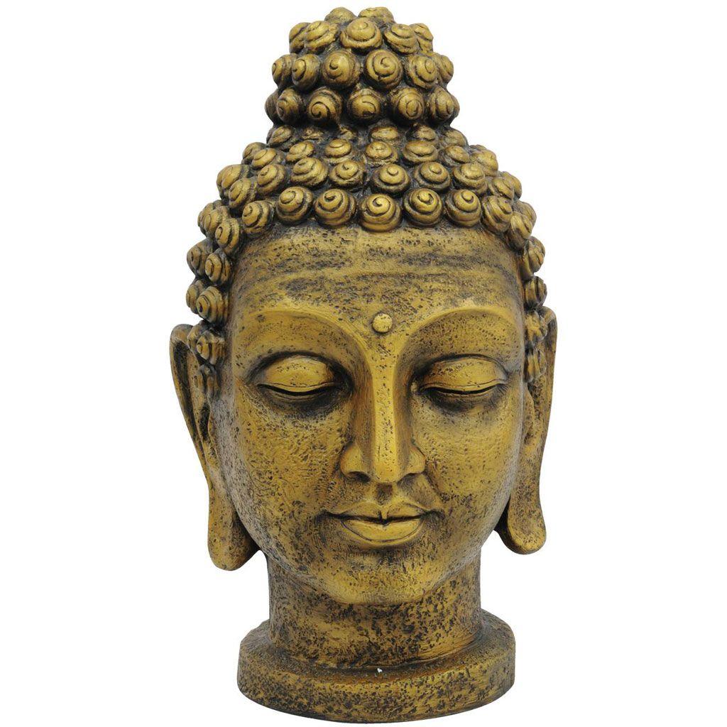 europalms-buddhakopf-antik-gold-75cm