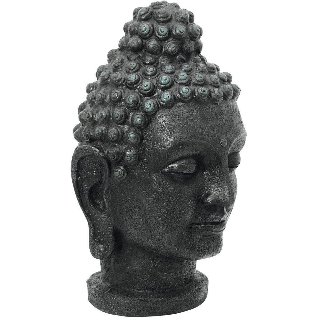 europalms-buddhakopf-antik-schwarz-75cm