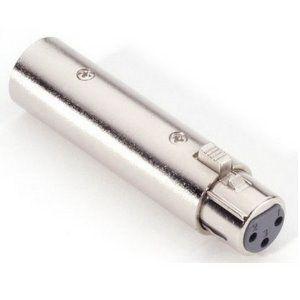 Adam Hall 7869 - Adapter 3 Pol XLR female auf 5 Pol XLR male