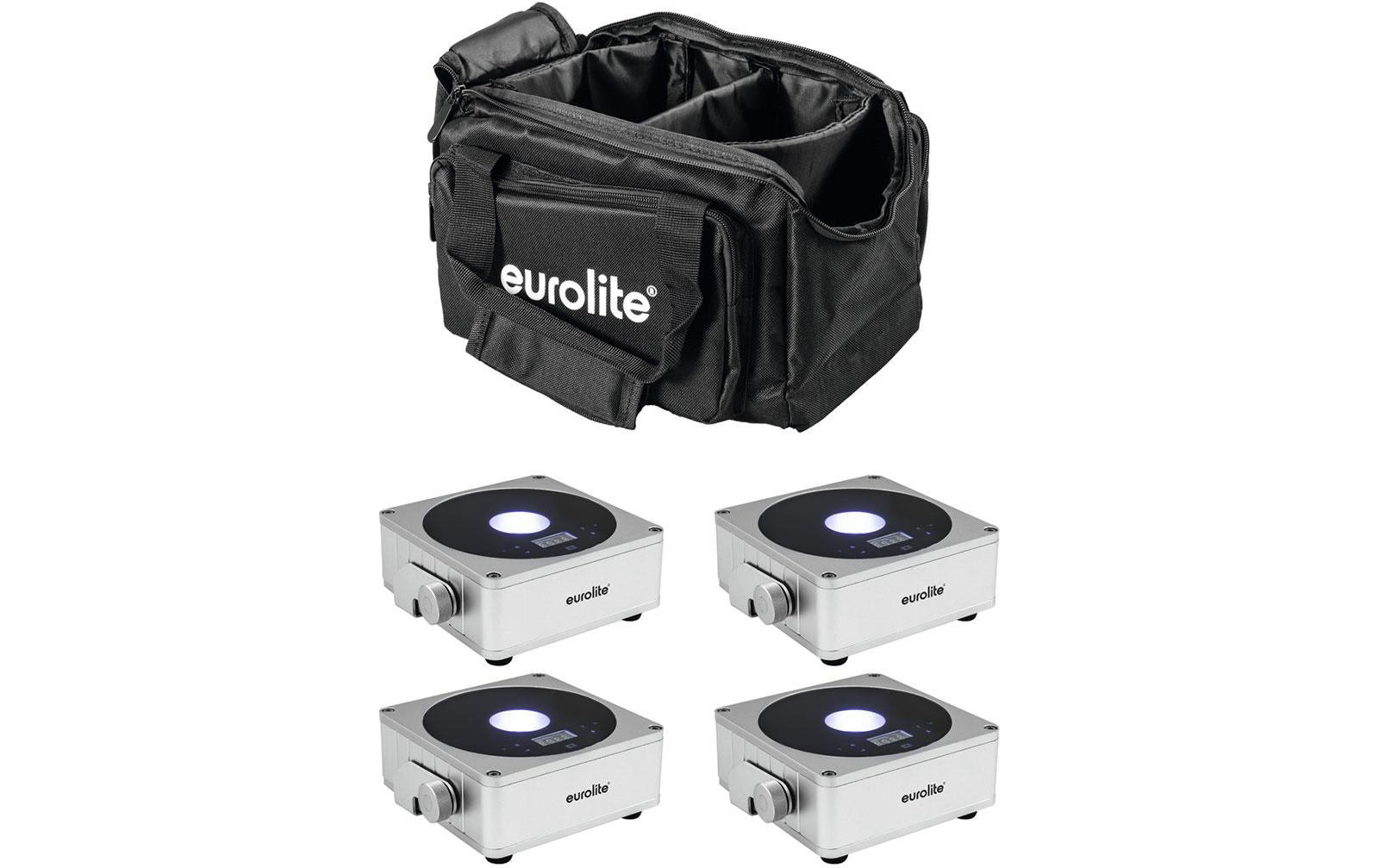 eurolite-set-4x-akku-flat-light-1-silber-soft-bag