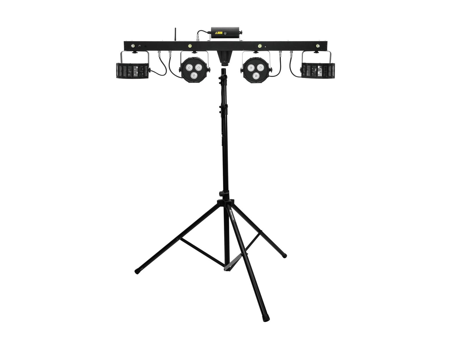 eurolite-set-led-kls-laser-bar-fx-lichtset-m-4-boxenhochsta-nde, 359.00 EUR @ music-and-more-store