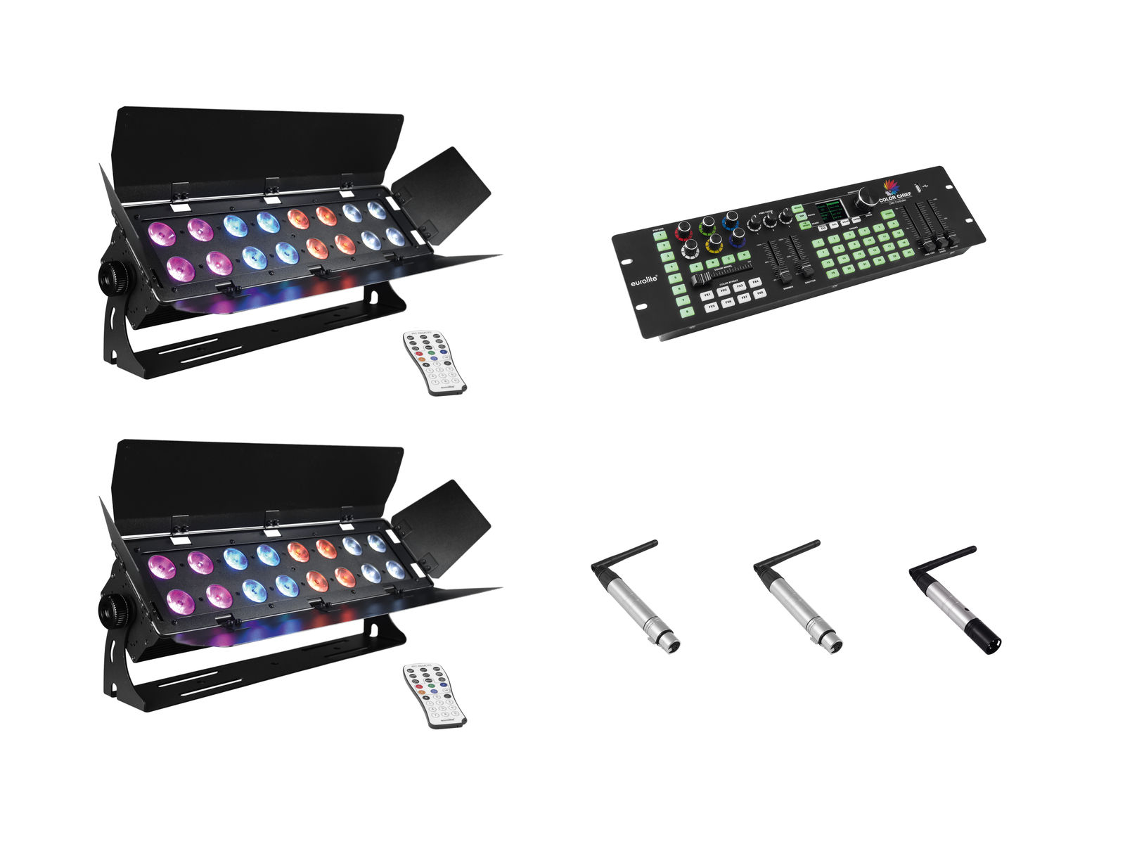 eurolite-set-2x-stage-panel-16-color-chief-quickdmx-sender-, 899.00 EUR @ music-and-more-store
