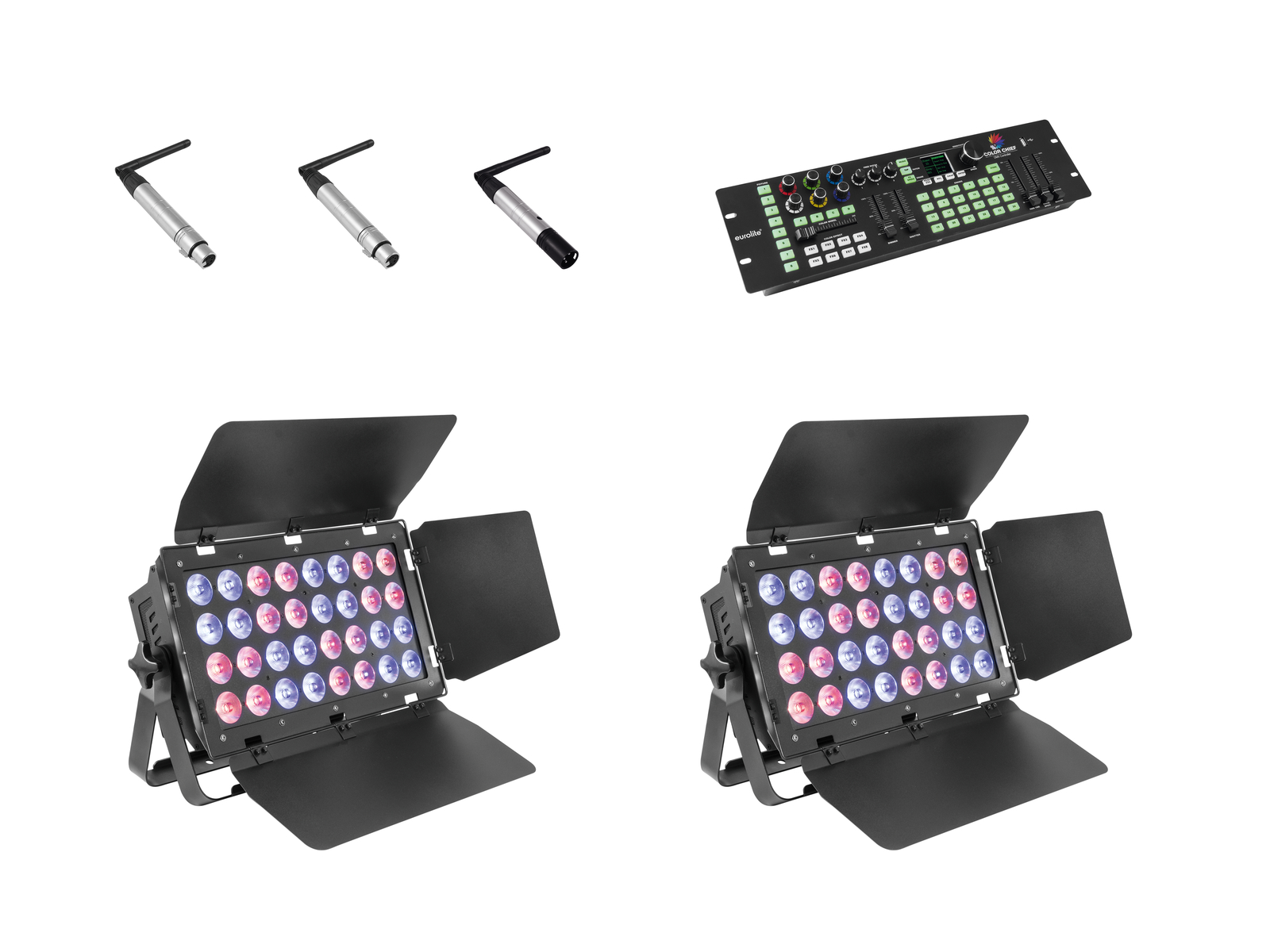 eurolite-set-2x-stage-panel-32-color-chief-quickdmx-sender-, 1379.00 EUR @ music-and-more-store