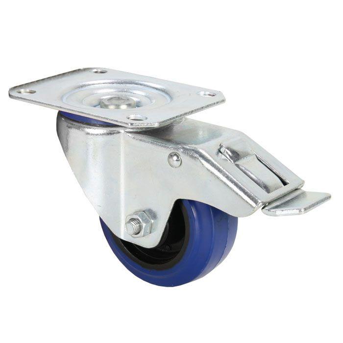adam-hall-372091-lenkrolle-80-mm-mit-blauem-rad-und-feststeller