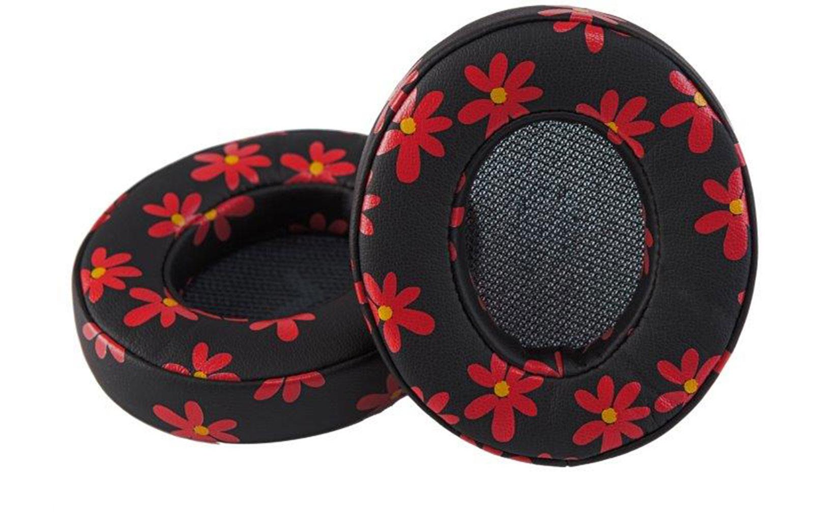 miiego-boom-earpads-1-paar-floral-rot