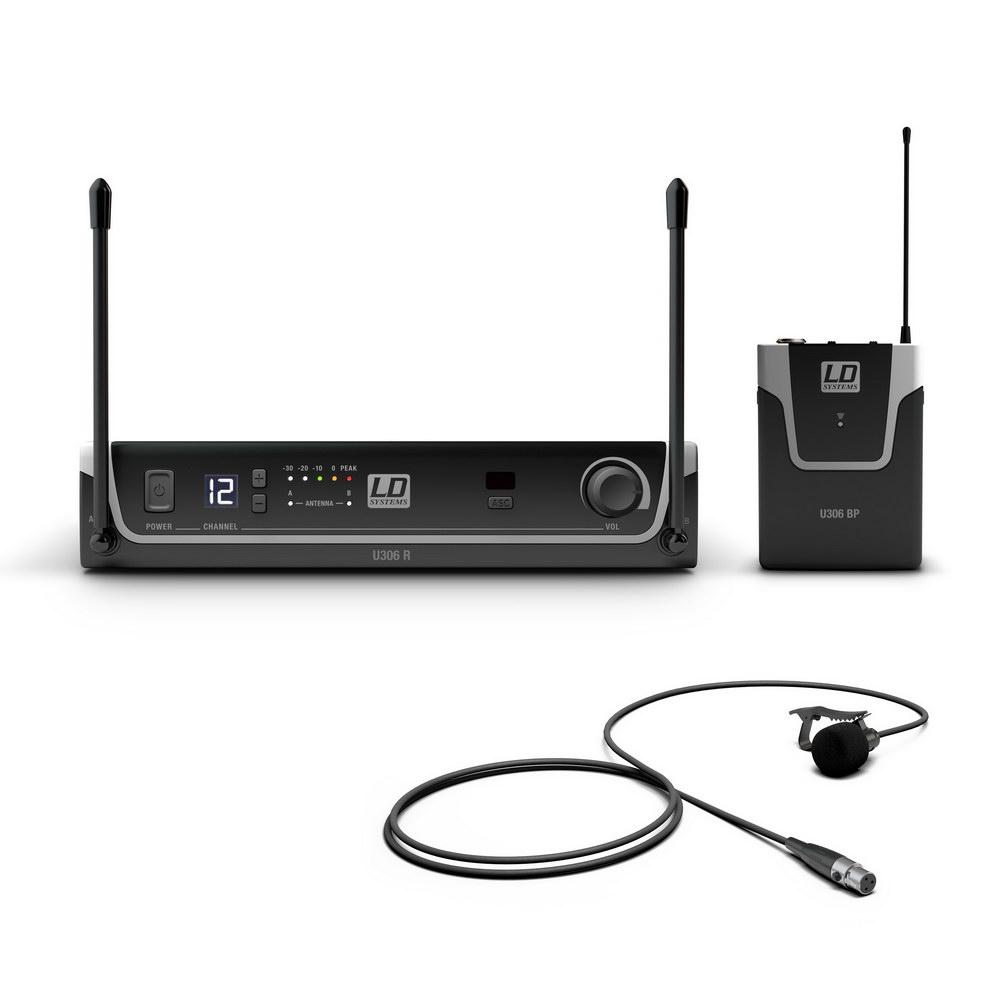ld-systems-u306-bpl-funksystem-mit-bodypack-und-lavalier-mikrofon