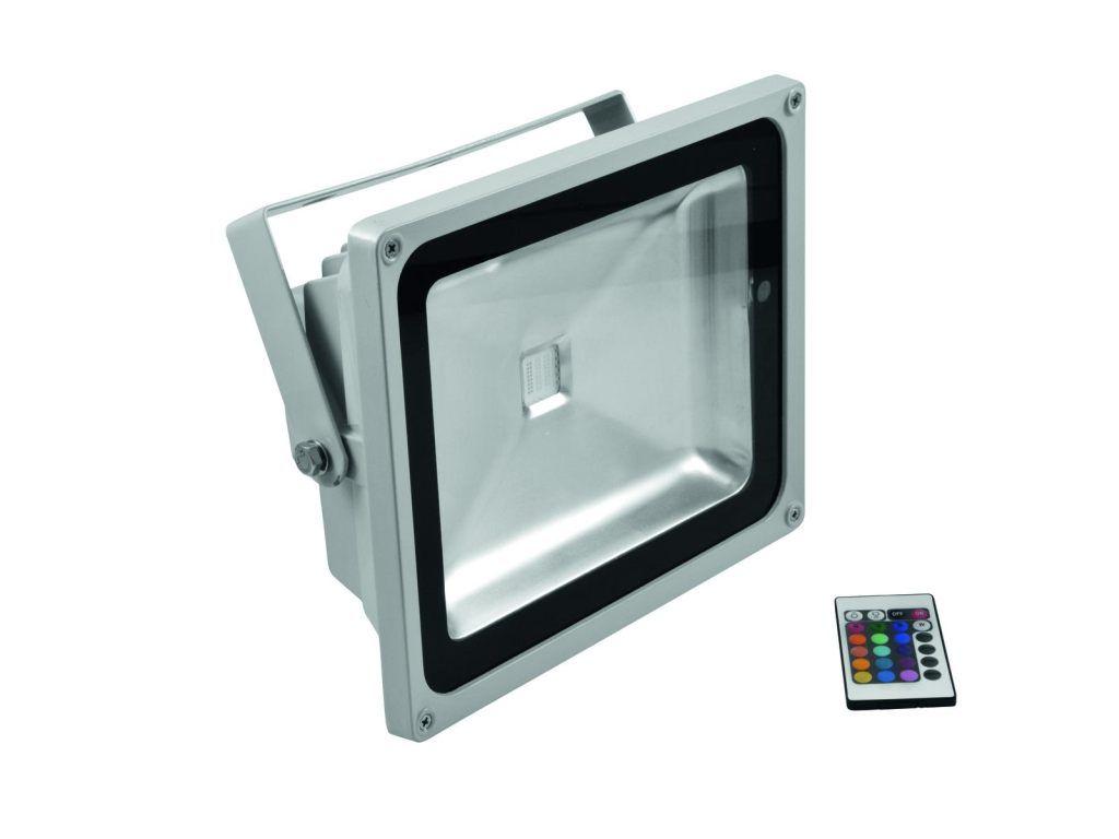 Eurolite LED IR FL-50 COB RGB 120° inkl. Fernbedienung
