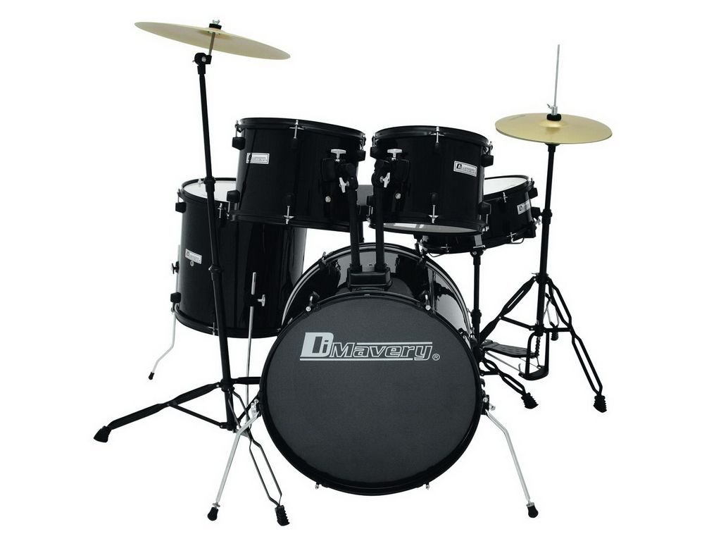 dimavery-ds-200-schlagzeug-set-schwarz