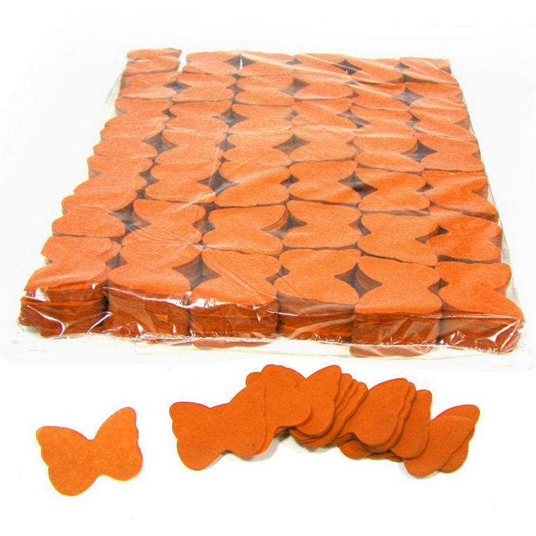 Magic FX Slowfall Konfetti Butterflies Ã?55mm Orange Beutel