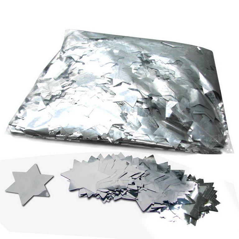 Magic FX Metallic Konfetti Stars Ã?55mm Silber Beutel