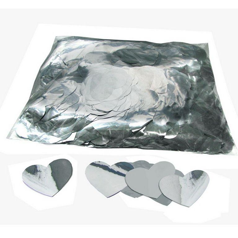 Magic FX Metallic Konfetti Hearts Ã?55mm Silber Beutel