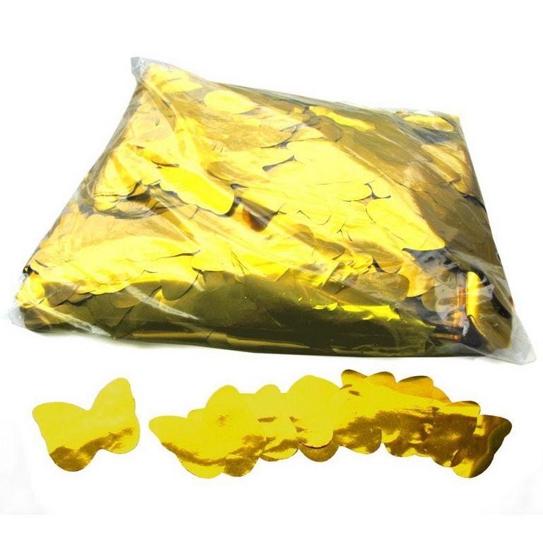 Magic FX Metallic Konfetti Butterflies Ã?55mm Gold Beutel