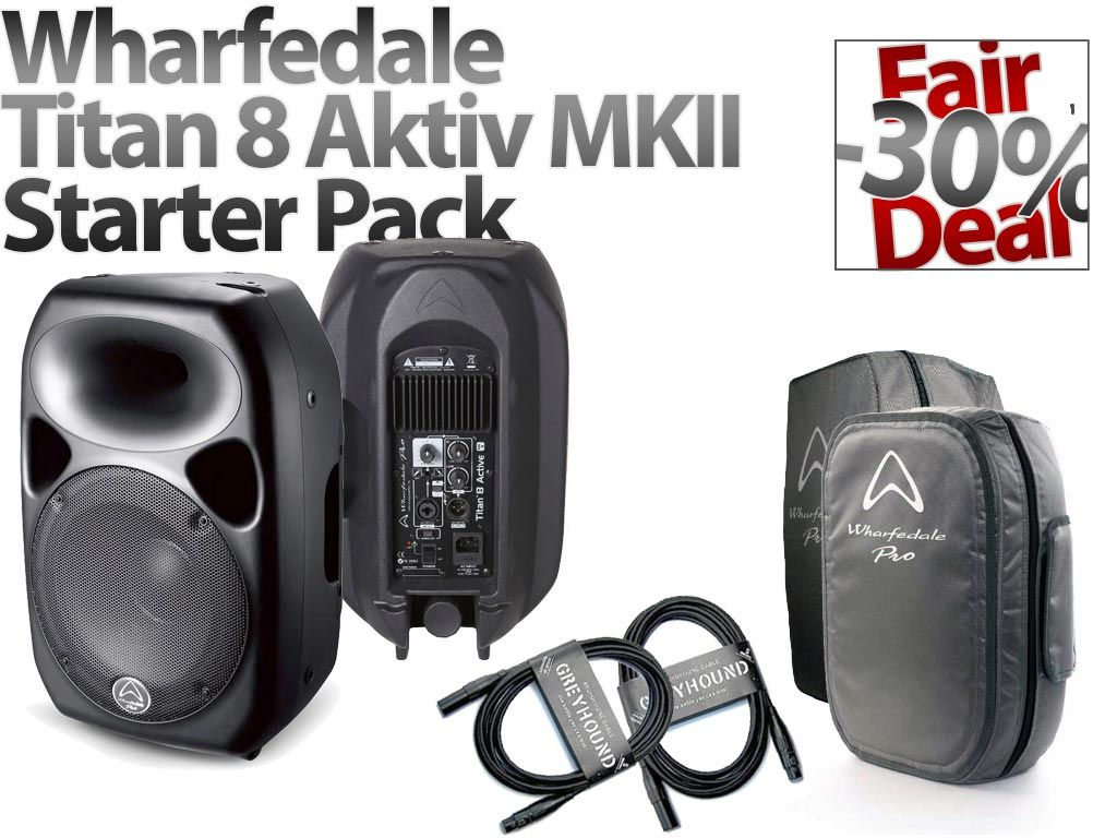 wharfedale-titan-8-aktiv-mkii-starter-pack, 499.00 EUR @ music-and-more-store