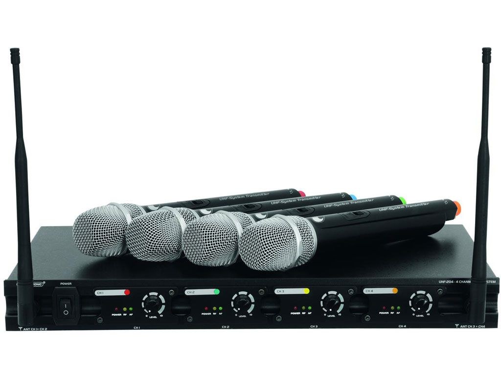 Omnitronic UHF-204 Funkmikrofon-System
