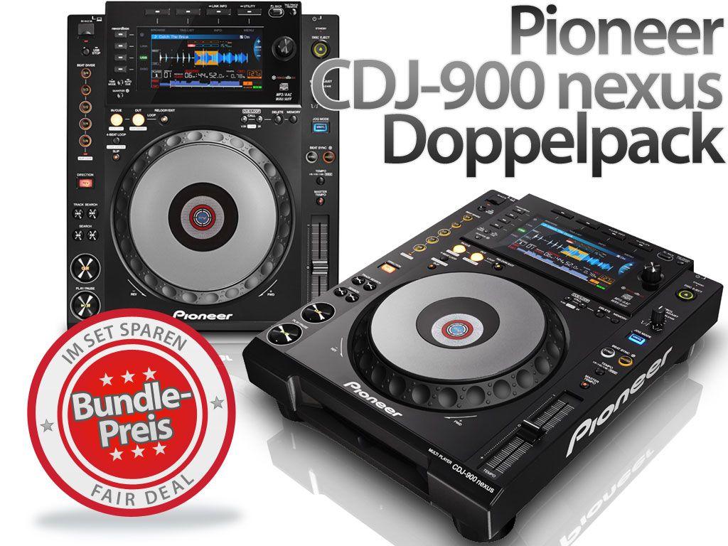 Pioneer CDJ-900 nexus - Doppelpack