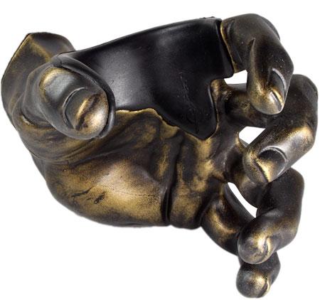 GuitarGrip Wandhalter Brass Antique Male Hand links