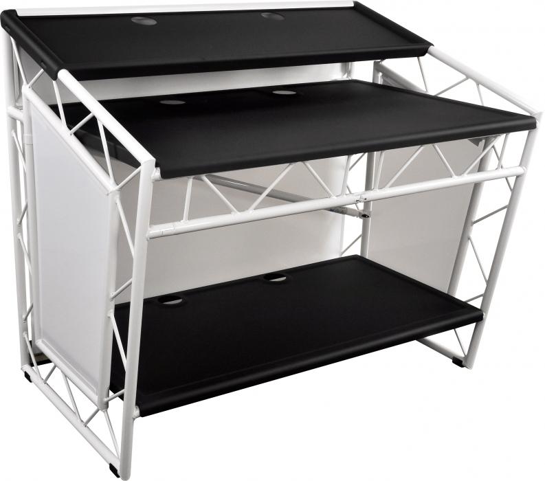 liteconsole xprs white mobiler dj tisch g nstig online. Black Bedroom Furniture Sets. Home Design Ideas