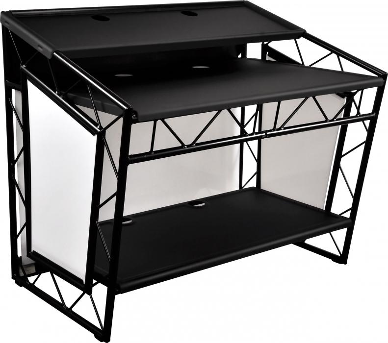liteconsole xprs black mobiler dj tisch g nstig online. Black Bedroom Furniture Sets. Home Design Ideas
