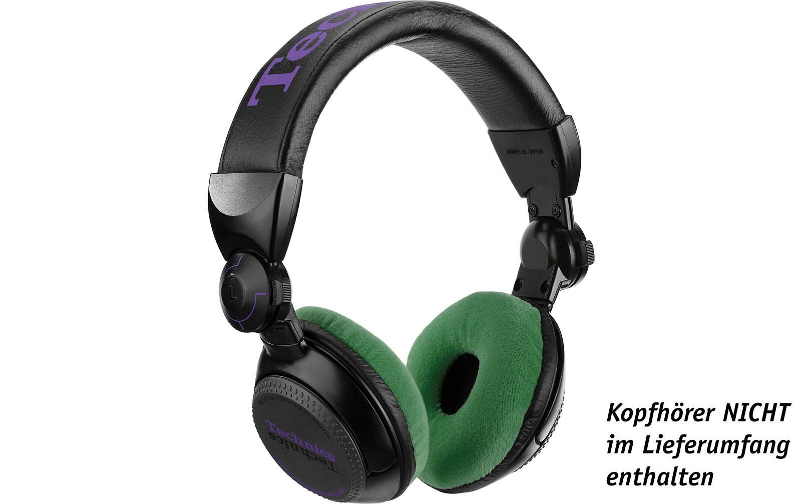 Zomo Polsterset Velour für Technics RP-DJ1200/1210 und Pioneer HDJ-500 cactus