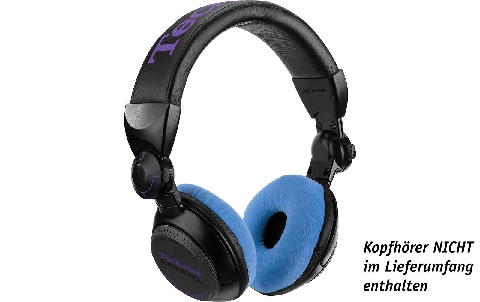 Zomo Polsterset Velour für Technics RP-DJ1200/1210 und Pioneer HDJ-500 sky