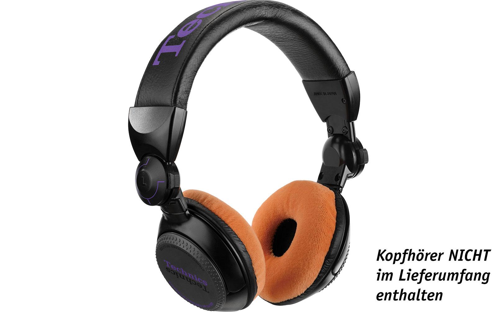 Zomo Polsterset Velour für Technics RP-DJ1200/1210 und Pioneer HDJ-500 tangerine