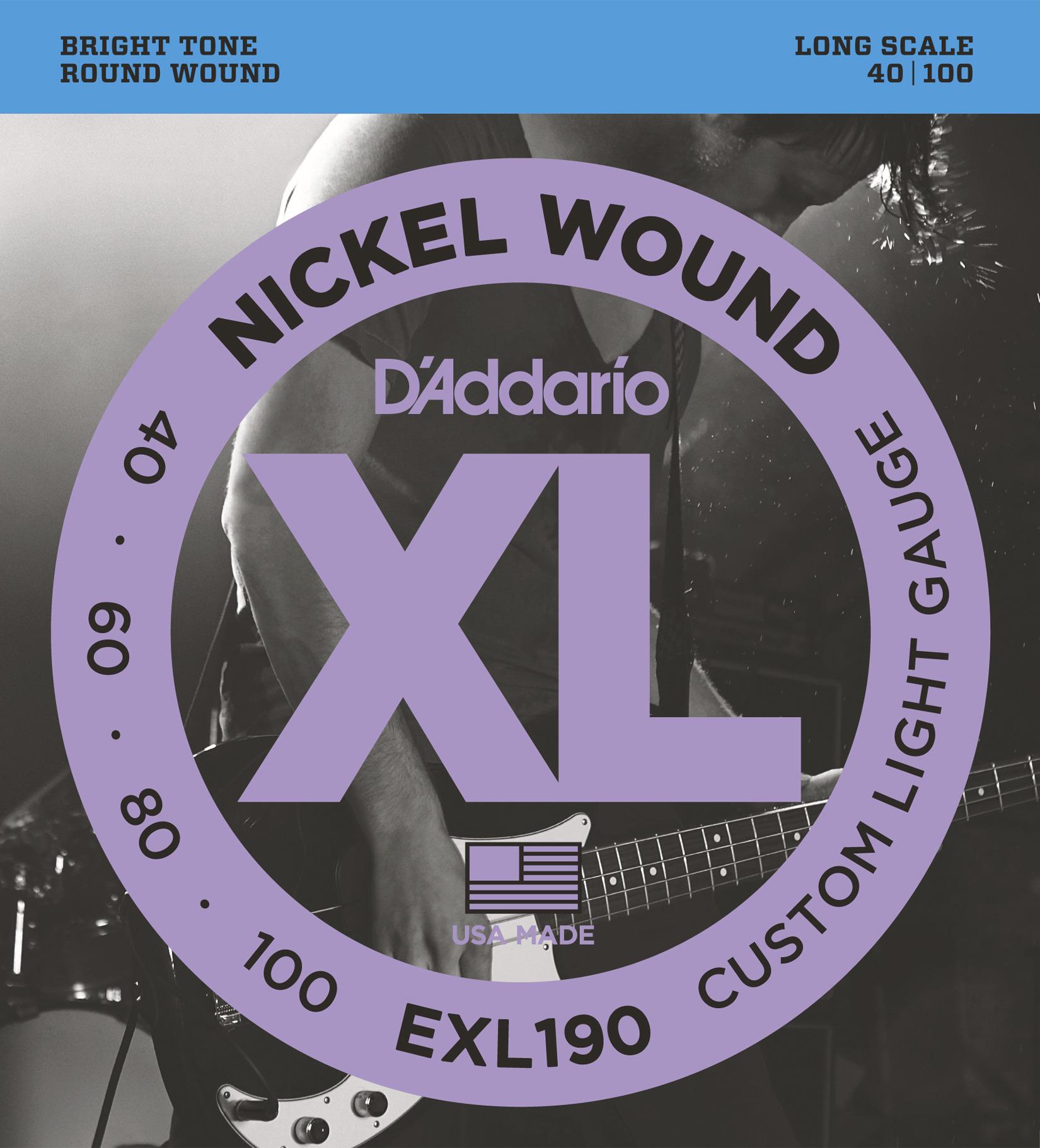 Daddario EXL190 Saitensatz für E-Bass 040-100