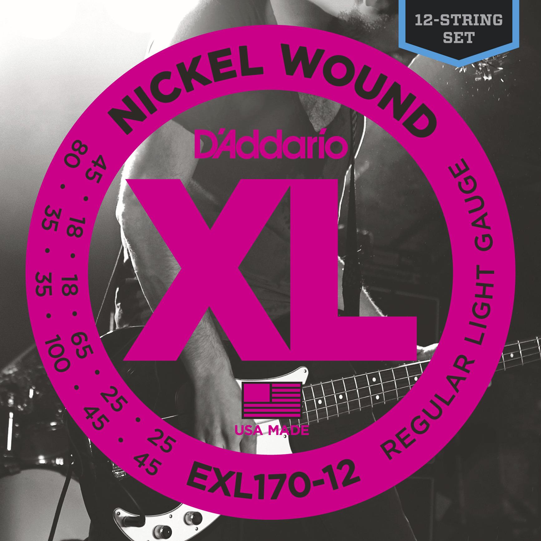 Daddario EXL170-12 Saitensatz für E-Bass 12-Strin