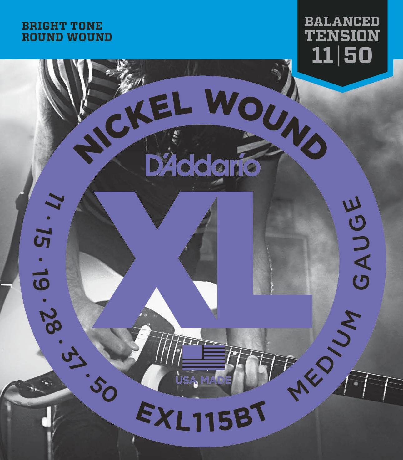 Daddario EXL115BT Saitensatz für E-Gitarre 011-050