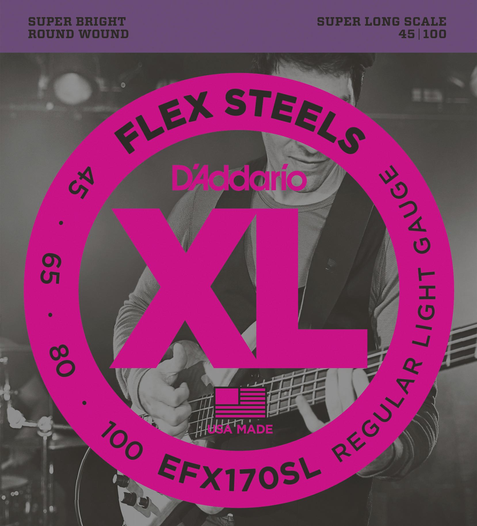 Daddario EFX170SL Saitensatz für E-Bass 045-100