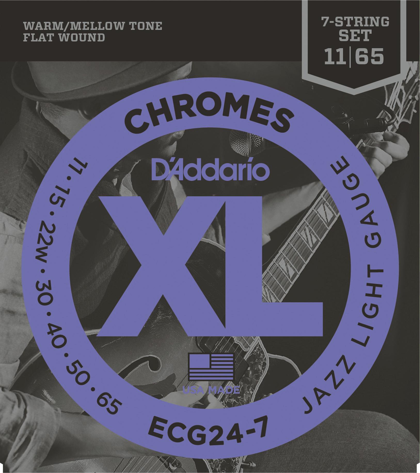 Daddario ECG24-7 Saitensatz für E-Gitarre 7-String