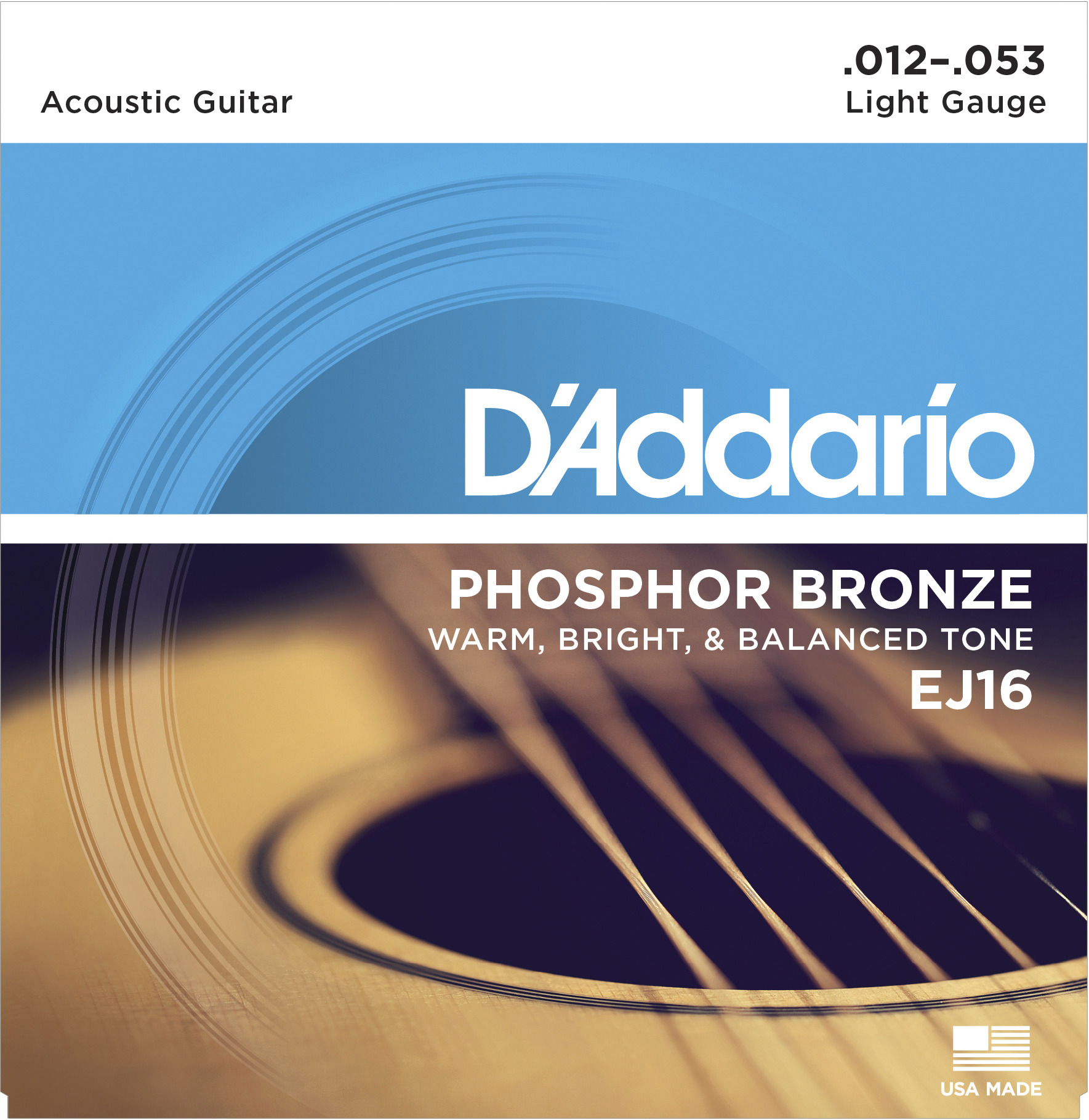 Daddario EJ16 Saitensatz für Westerngitarre 012-053
