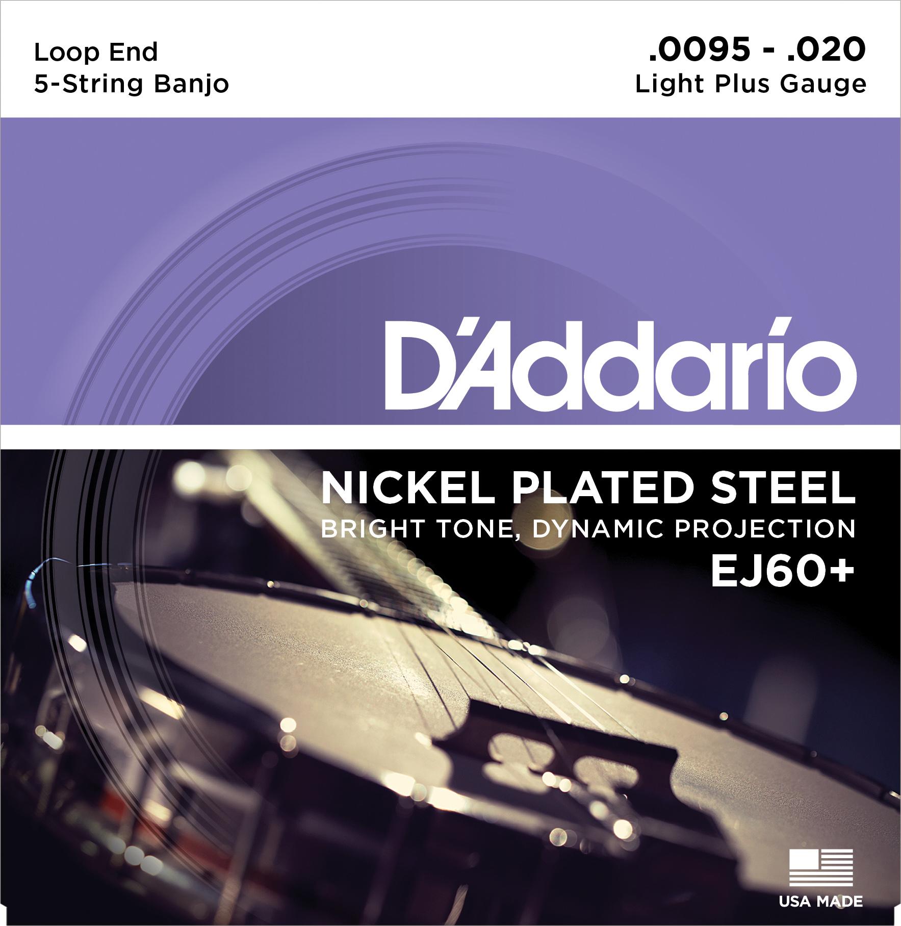 Daddario EJ60+ Saitensatz für Banjo