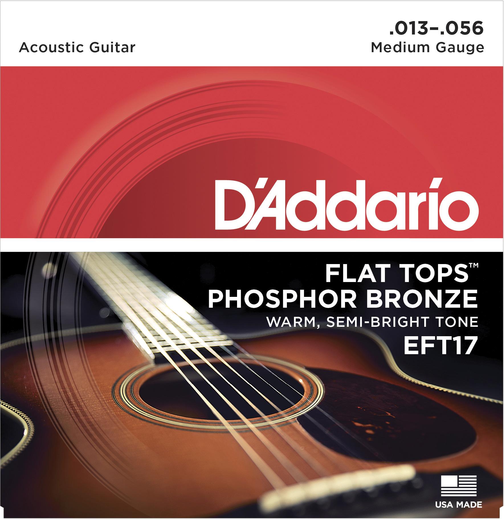 Daddario EFT17 Saitensatz für Westerngitarre 013-056